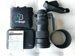 Sigma 60-600mm F/4.5-6.3 Dg Os Hsm Sports Lens For Canon Ef, With Accessories