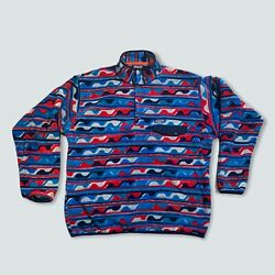 Synchilla Aztec Tribal Snap T Fleece Pullover Mens Xxl Red White Blue