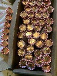 50 Bank Rolls Of 2020 Pennies With Bank Box 25 Face Value Coin Shortage