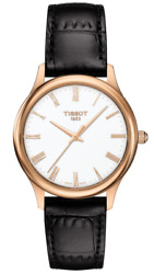 Brand New Tissot Women's Excellence Lady 18k Gold Leather Watch T9262107601300