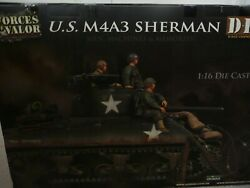 Forces Of Valor 1/16 Usa Ww2 M4a3 Sherman D-day Commemorative Diecast Tank 85007