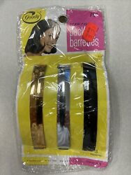 Vintage Barrettes Stay Tight Metal Unique Old Hard To Find Retro Items Nice