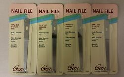 Vintage Nail File Triple Cut Stainless Steel Gem 1988 Unique Old Items Nice