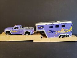 Breyer Model Horse 2007 Jcpenny Stablemate Truck And Trailer Set 410431