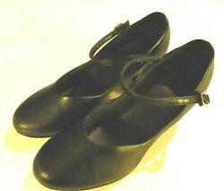 Black Character Dance Shoes Womens 6.5 Heeled Dance Jazz Theater