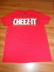 Small Adult - Kellog's Cheezit Snacks T-shirt - Red Cotton - 35x24 - New / Nwot