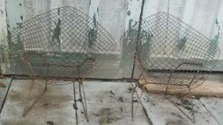 2 Harry Bertoia Knoll Diamond Chairs Childs Kids Rusty Barn Find Project Pair