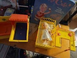 1960s Topper Suzy Cute Feeding Table Tub Changing Table And Doll Lot + More