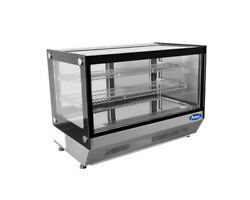 Atosa Crds-56 35.4 Refrigerated Countertop Display Merchandiser Glass Case