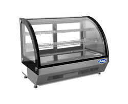 Atosa Crdc-46 35.4 Refrigerated Countertop Display Curved Glass Case Free Lift