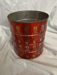 Vintage Hills Bros. Coffee Can Tin Red Soldier Folgers Drummer 1966 Rare
