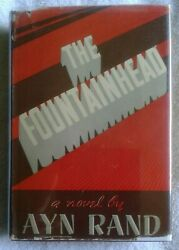 Rare Ayn Rand Signed The Fountainhead 1943 1st Ed/ 2nd Red Bds Orig Dj Nf/vg-