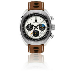 Brand New Tissot Men's Heritage 1973 Chono Brown Leather Watch T1244271603101