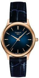 Brand New Tissot Women's Excellence Lady 18k Gold Blue Watch T9262107604100