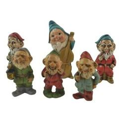 Holiday Christmas Gnomes Elves Lot Of 6 Vintage Made In Japan Mcm