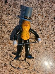 Early Planters Mr. Peanut Articulated Wooden Figure Complete With Cane