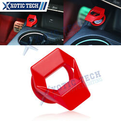 1.5 Red Diamond Aluminum Engine Start Stop Push Button Switch Ring Trim Cover
