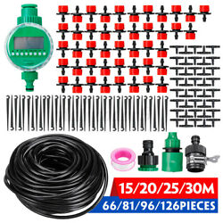 Automatic Drip Irrigation System Kit Timer Micro Sprinkler Garden Plant Watering
