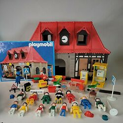 Rare 1985 Vintage Playmobil 4300 Bahnhof Train Station As Pictured 1974-85