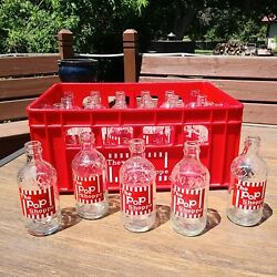 The Pop Shoppe Soda Glass Bottles 24 Count With Crate Clean