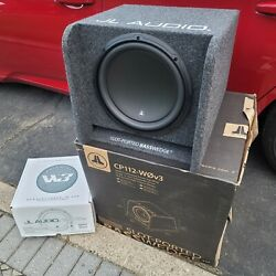 Jl 12 12w3v3 2-ohm Installed In A Jl Cp112 Slot-ported Basswedge Sub Enclosure