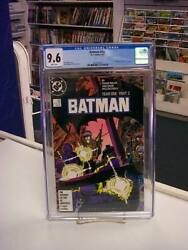 Batman 406 Dc Comics 1987 Cgc Graded 9.6 Year One White Pages