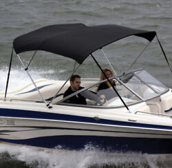 Shademate 80330 Black Bimini Top Poly Fabric/boot Only,4 Bow,8'lx54h,67-72w