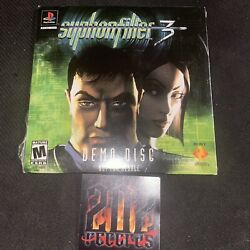 Syphon Filter 3 Demo - Sealed - Playstation, Ps1 - Brand New Grail 911 Rare