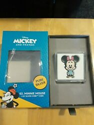 Limited 2021 Niue Chibi Disney Series Minnie Mouse 1oz Silver Coin - In Hand