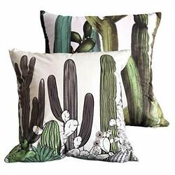 Decorative Pillow Covers 18x18 Inch Home Décor Cactus Tropic Cushion Case for...