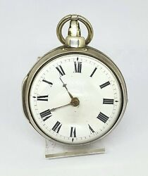 1800´s Antique Verge Fusee Pocket Watch Harrison Hand Crafted -.working.-