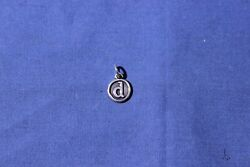 James Avery Sterling Silver Round/circle Initial D Charm