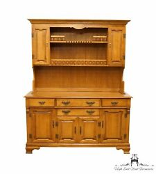 Tell City Solid Hard Rock Maple Colonial Style 60 Buffet W. Display Cabinet ...