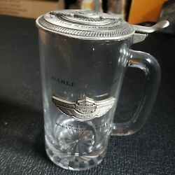 Collectible Harley Davidson Glass Stein 1903-2003 100 Years Of Great Motorcycles