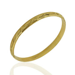 6.8mm Carved Bangle Bracelet In 20k Yellow Gold