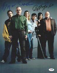 Breaking Bad Cast By 6 Autographed Signed 11x14 Photo Authentic Psa/dna Loa