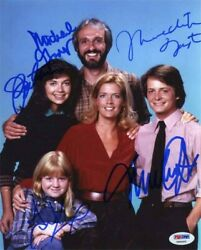 Family Ties Cast Autographed Signed 8x10 Photo Certified Authentic Psa/dna Coa