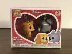 Lady And The Tramp Funko Keychain Pocket Pop 2-pack - Disney Treasures Exclusive