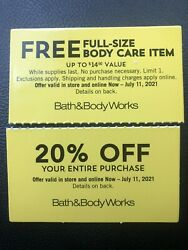 Bath And Body Works Coupons 20 Off Expire July 11
