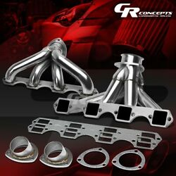 For Cadillac Big Block 425-500 V8 Engine Stainless Exhaust Manifold Header+bolts