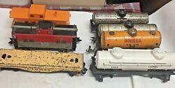 0 Lionel Marx Mar..tank Cars, Caboose, Flat Freight/rolling Preowned Vtg