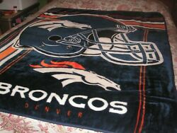 Make It Official Denver Broncos By Northwest Co. 100 Polyester Throw Blanket