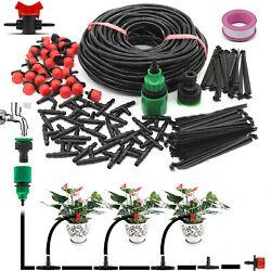 32.8ft Automatic Drip Irrigation System Plant Garden Watering Hose Spray Kit Us