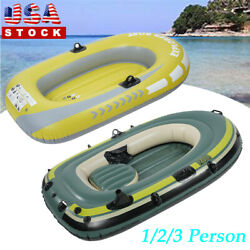 Heavy Duty 1/2/3 Person Inflatable Raft Dinghy Fishing Boat Kayak 250kg Load D