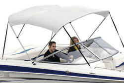 """Shademate 80366 White Bimini Top Poly Fabric/bootno Frame4bow,8'l,54""""h,91-96""""w"""