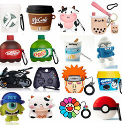Cute 3D Cartoon Airpod Silicone Case Cover For Apple AirPods 1 2 Pro Accessories $7.99