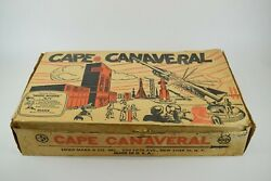 Vintage Incomplete Marx Cape Canaveral Play Set With Paper Bags