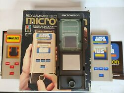 Milton Bradley Microvision Game System W/ Blockbuster And Bowling Untested Vintage