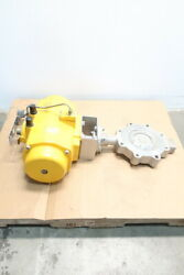 Vanessa Series 30000 Pneumatic Stainless Lugged Butterfly Valve 8in