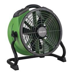 14 Green Portable Industrial Carpet Floor Wall Axial Fan Built In Power Outlet